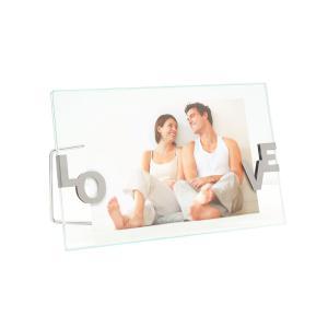 Bilderrahmen aus Glas mit LOVE Klammern
