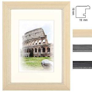 Holz-Bilderrahmen Capital Roma mit Passepartout