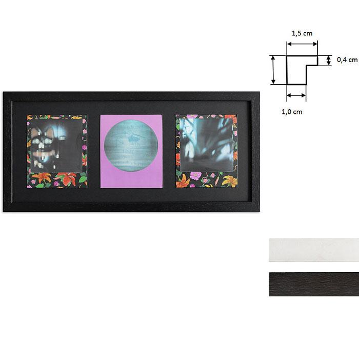 Bilderrahmen für 3 Sofortbilder - Typ Polaroid 600