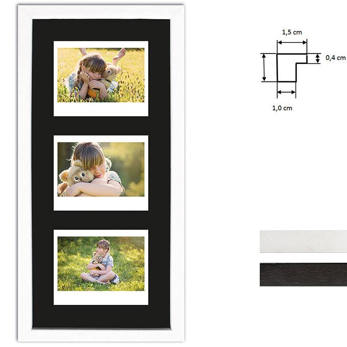 Bilderrahmen für 3 Sofortbilder - Typ Instax Wide