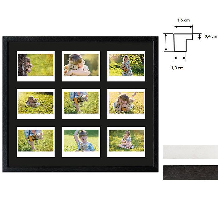 Bilderrahmen für 9 Sofortbilder - Typ Instax Wide