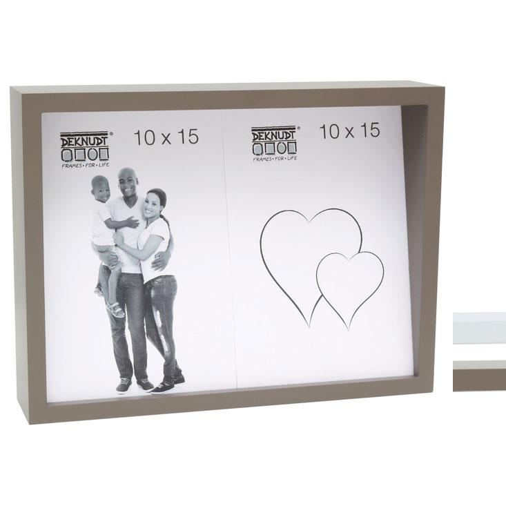 Fotorahmen mit schräger Rückwand für 2 Bilder