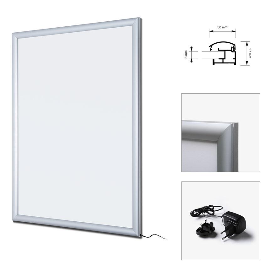 LED Plakatrahmen einseitig
