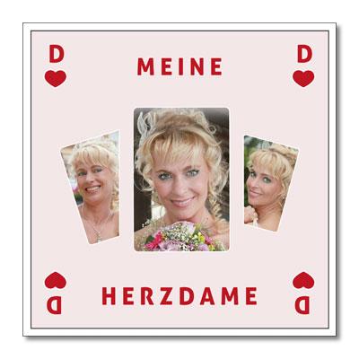 "Themen-Passepartout ""Herzdame"""