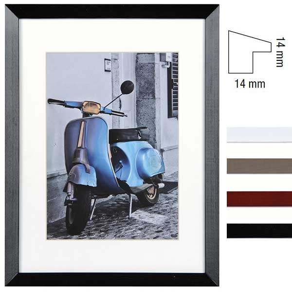 Holz-Bilderrahmen Umbria mit Passepartout