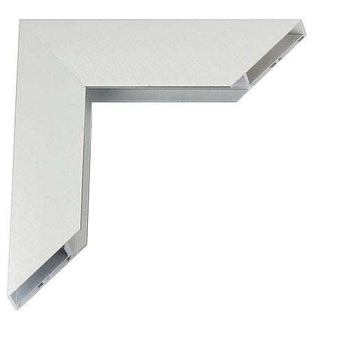 Giga Alu-Bilderrahmen Maßanfertigung Silber matt, kreuzgebürstet   Kunstglas