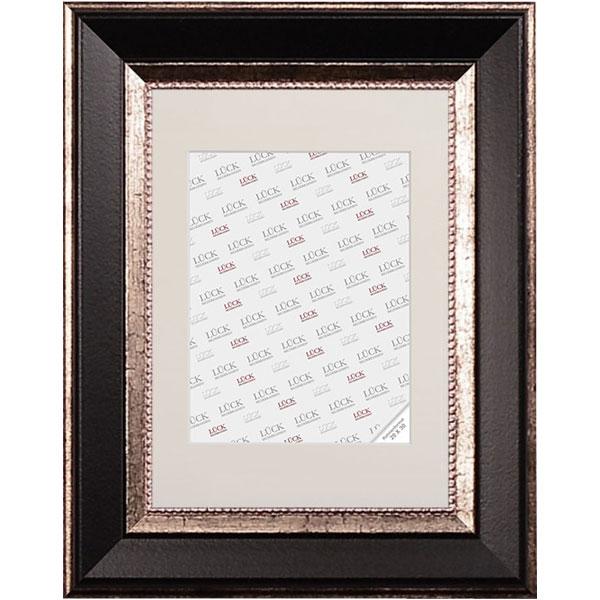 lueck barock bilderrahmen waldkirch 9x13 cm schwarz normalglas. Black Bedroom Furniture Sets. Home Design Ideas