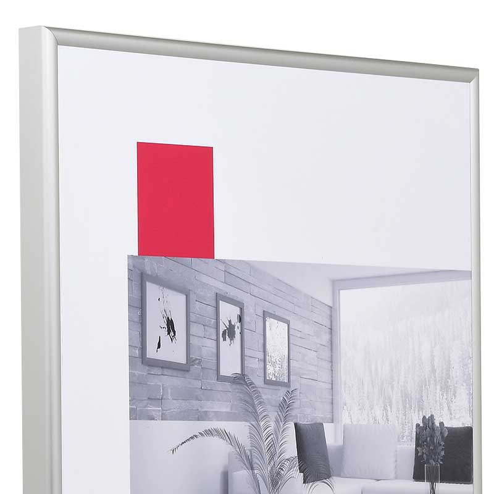 Alurahmen Econ rund 13x18 | silber matt | Normalglas