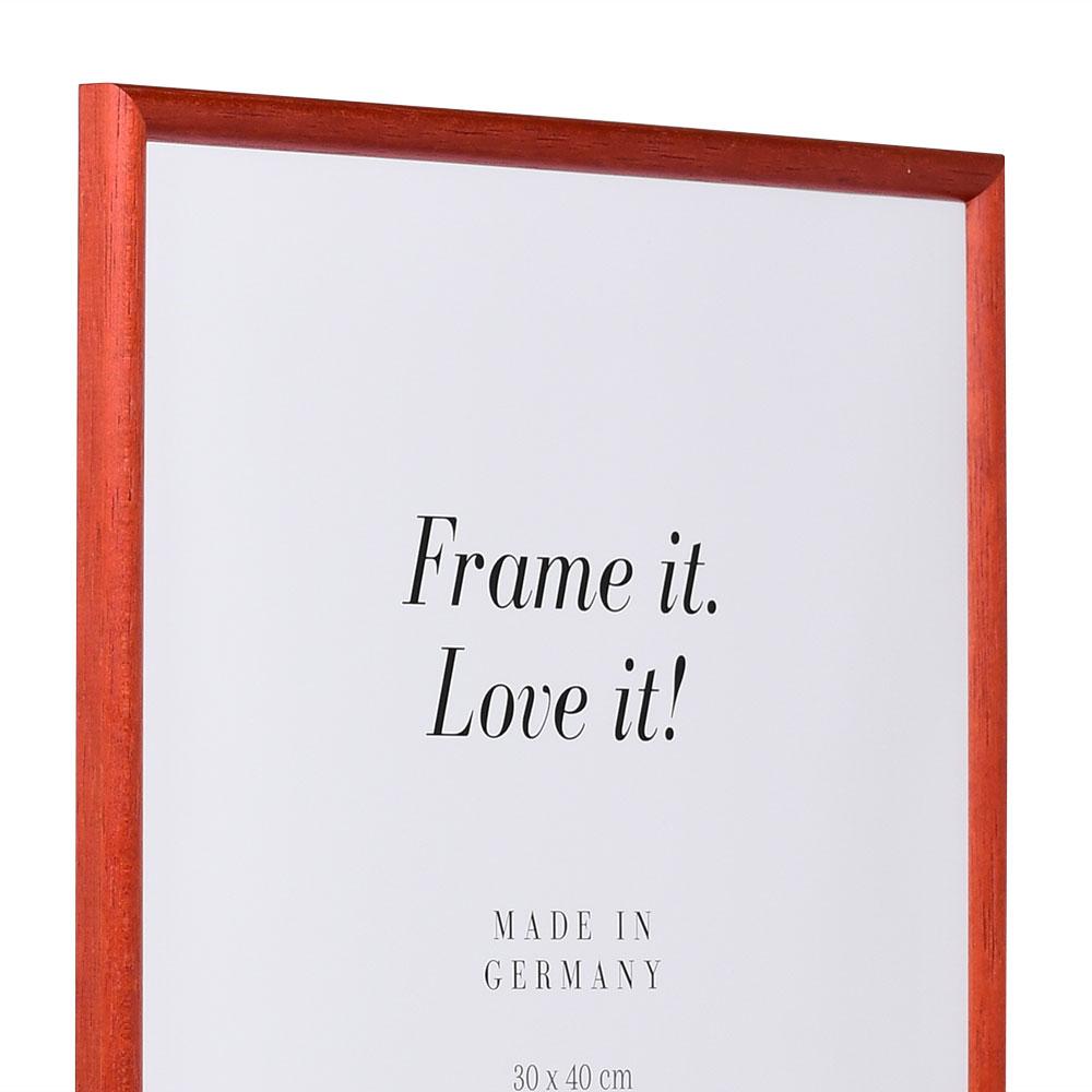 Holzrahmen Avignon 9x13 | rot | Normalglas