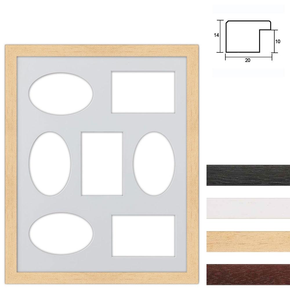 7er Galerierahmen aus Holz in 40x50 cm