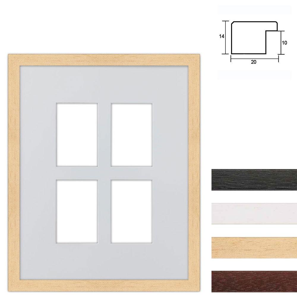 4er Galerierahmen aus Holz in 40x50 cm