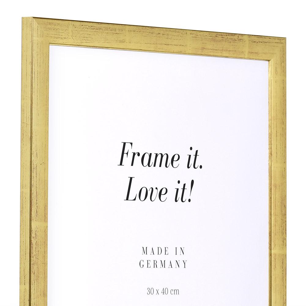 Holzrahmen Paris 9x13   gold   Normalglas