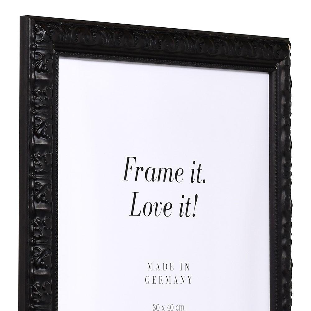Barockrahmen Cassis 20x30 | schwarz | Normalglas
