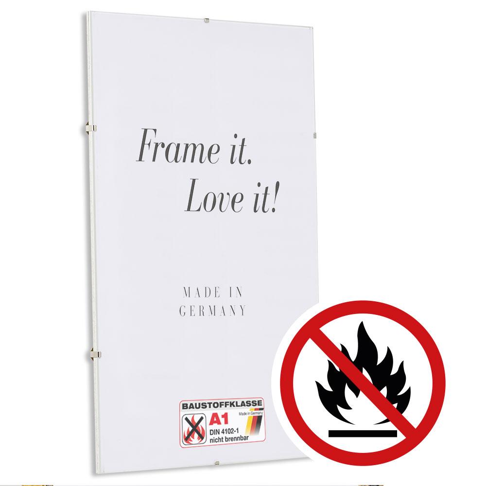 Klassifizierter Standard A1 Brandschutz Cliprahmen