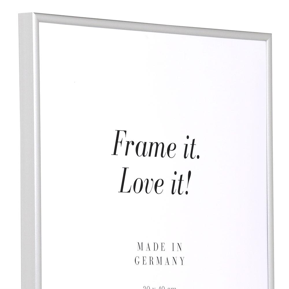 Kunststoffrahmen ART - Alu-Like 18x27 cm | Silber matt | Normalglas