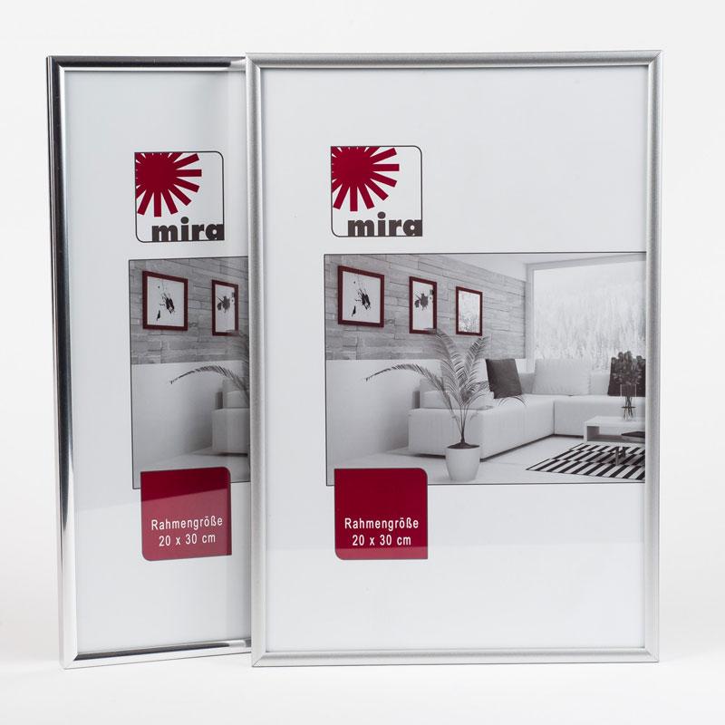 "Kunststoffrahmen ""Art"" - Alu-Like 18x27 | Silber matt | Normalglas"