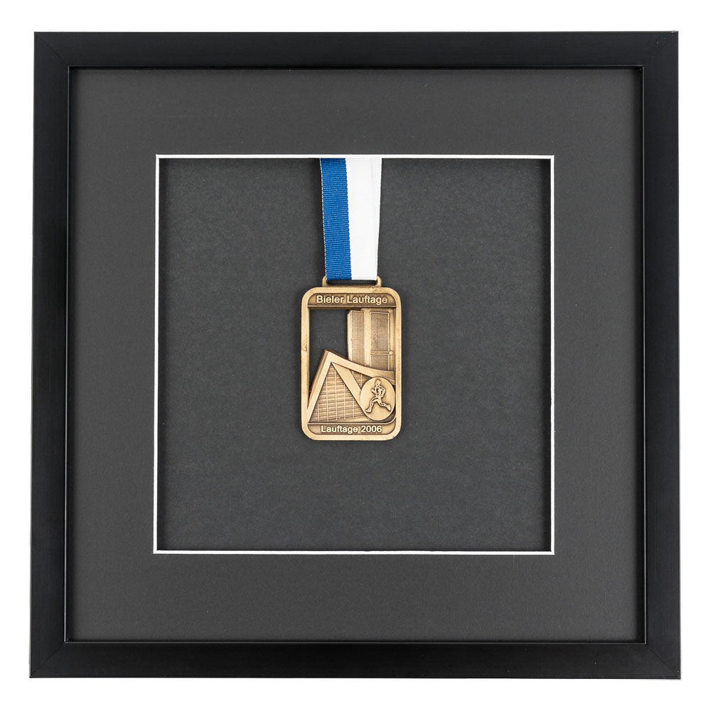 Medaillenrahmen 30x30 cm, schwarz