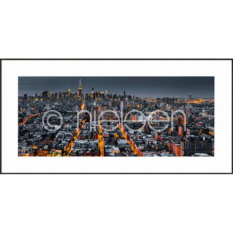 "Gerahmtes Bild ""New York Skyline"" mit Alurahmen C2"