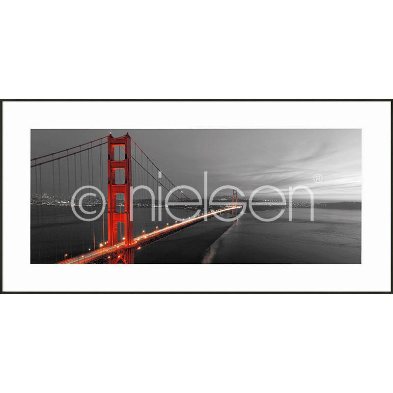 """Gerahmtes Bild """"Golden Gate Bridge"""" mit Alurahmen C2"""