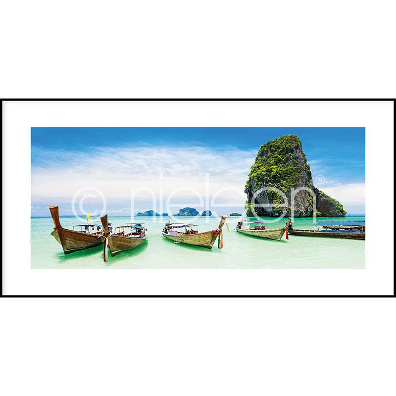 """Gerahmtes Bild """"Exotic Island"""" mit Alurahmen C2"""