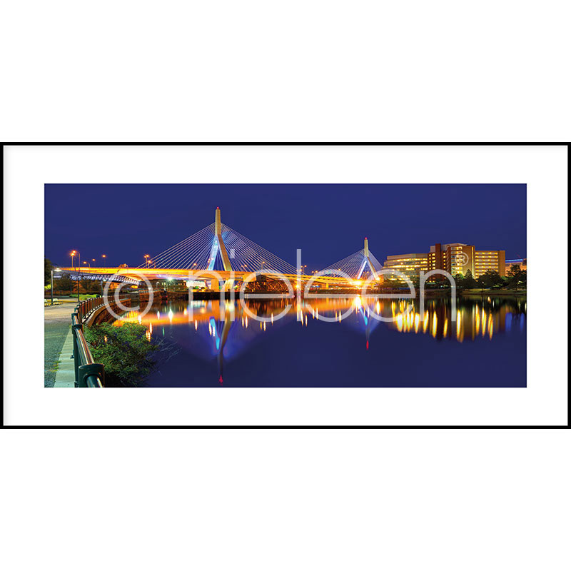 "Gerahmtes Bild ""Bridge at Night"" mit Alurahmen C2"