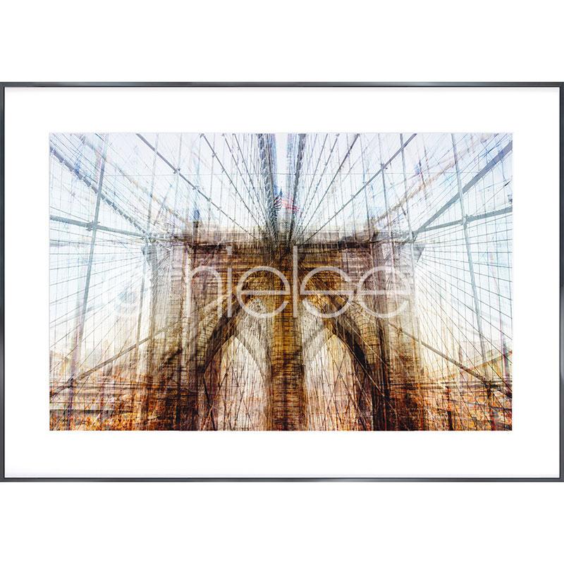 """Gerahmtes Bild """"Brooklyn Bridge"""" mit Alurahmen Alpha"""