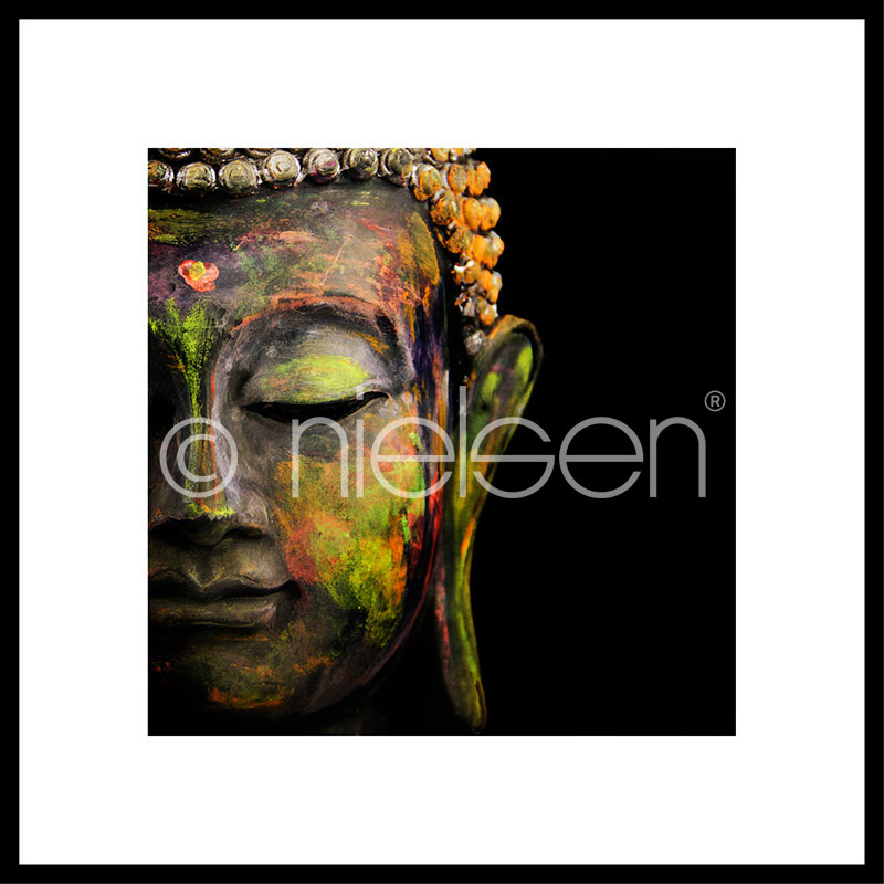 "Gerahmtes Bild ""Buddha head"" mit Alurahmen C2"