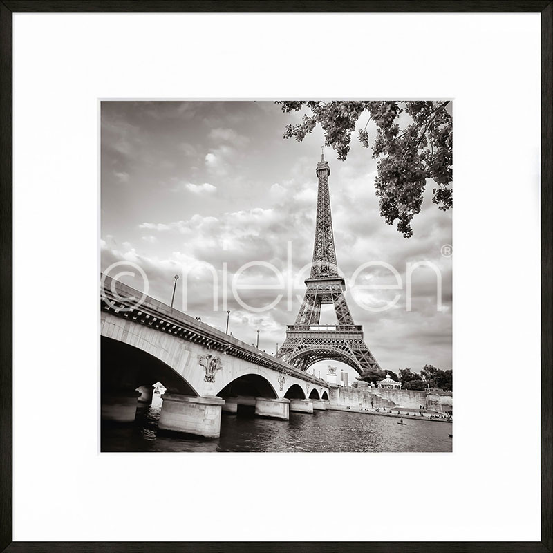 "Gerahmtes Bild ""Paris black and white"" mit Alurahmen C2"