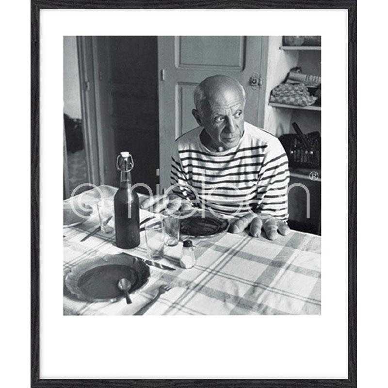 """Gerahmtes Bild """"Les pains de Picasso 1985"""" mit Holzrahmen Quadrum"""