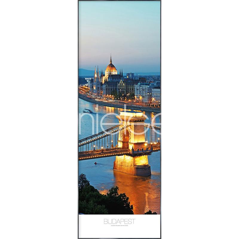 "Gerahmtes Bild ""Budapest"" mit Alurahmen Alpha"