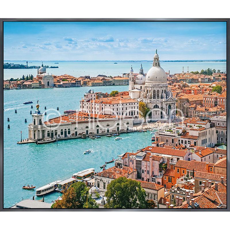 """Gerahmtes Bild """"Venice Santa Maria"""" mit Alurahmen Alpha"""