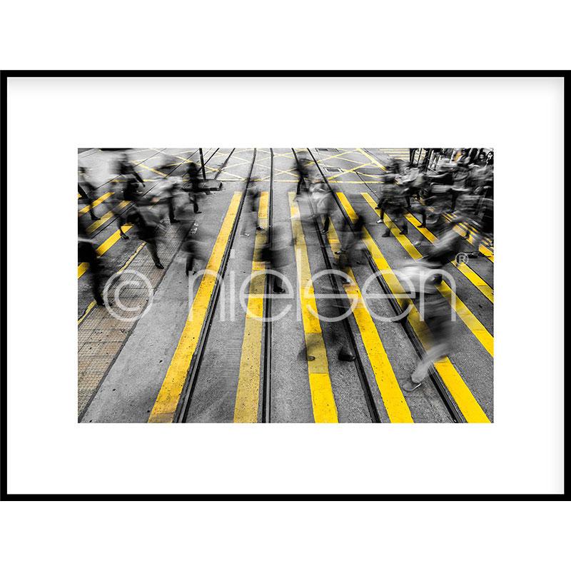 "Gerahmtes Bild ""Zebra Crossing"" mit Alurahmen C2"