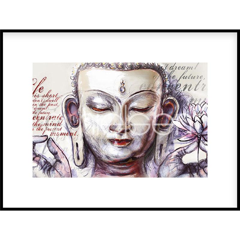 "Gerahmtes Bild ""Buddha Pearcing"" mit Alurahmen C2"