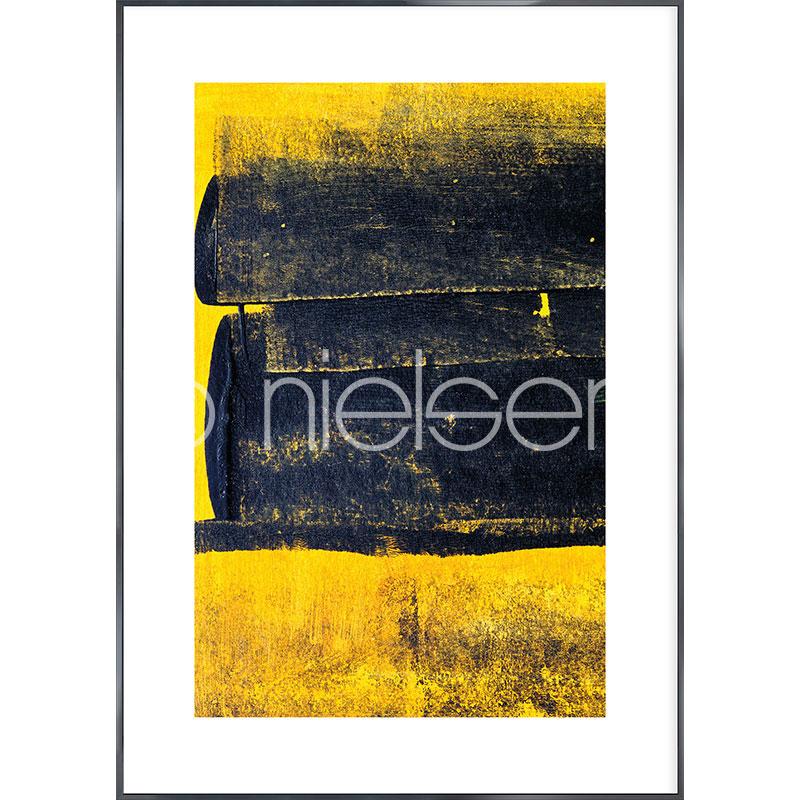 """Gerahmtes Bild """"Abstract Yellow"""" mit Alurahmen Alpha"""