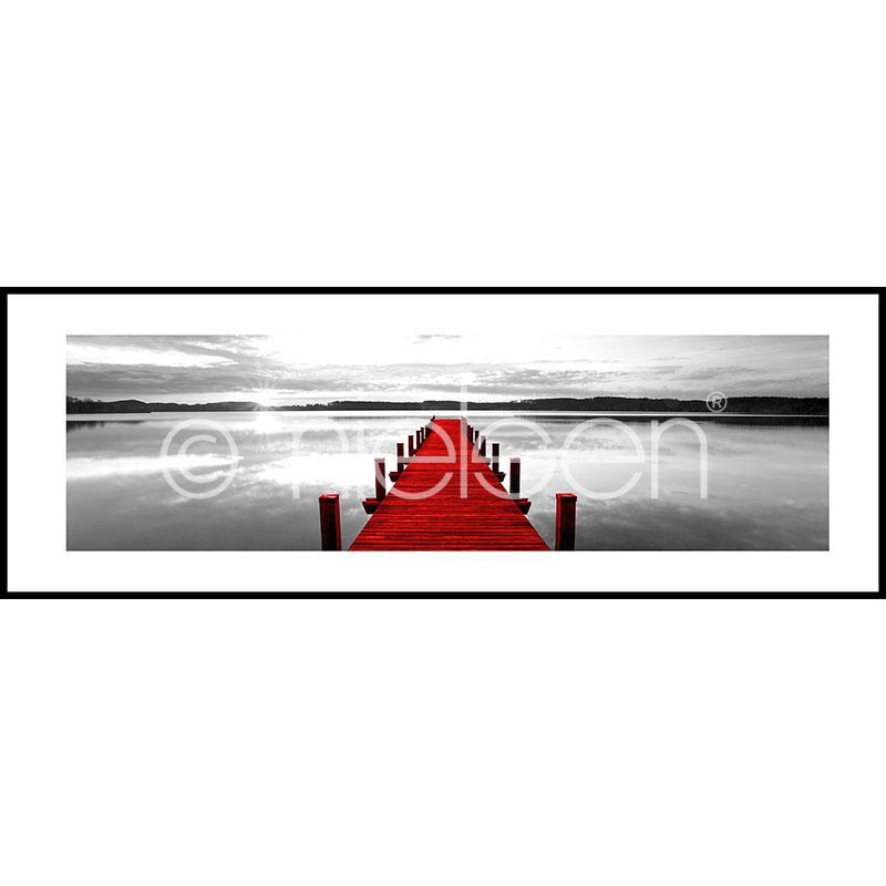 """Gerahmtes Bild """"Footbridge red"""" mit Alurahmen C2"""
