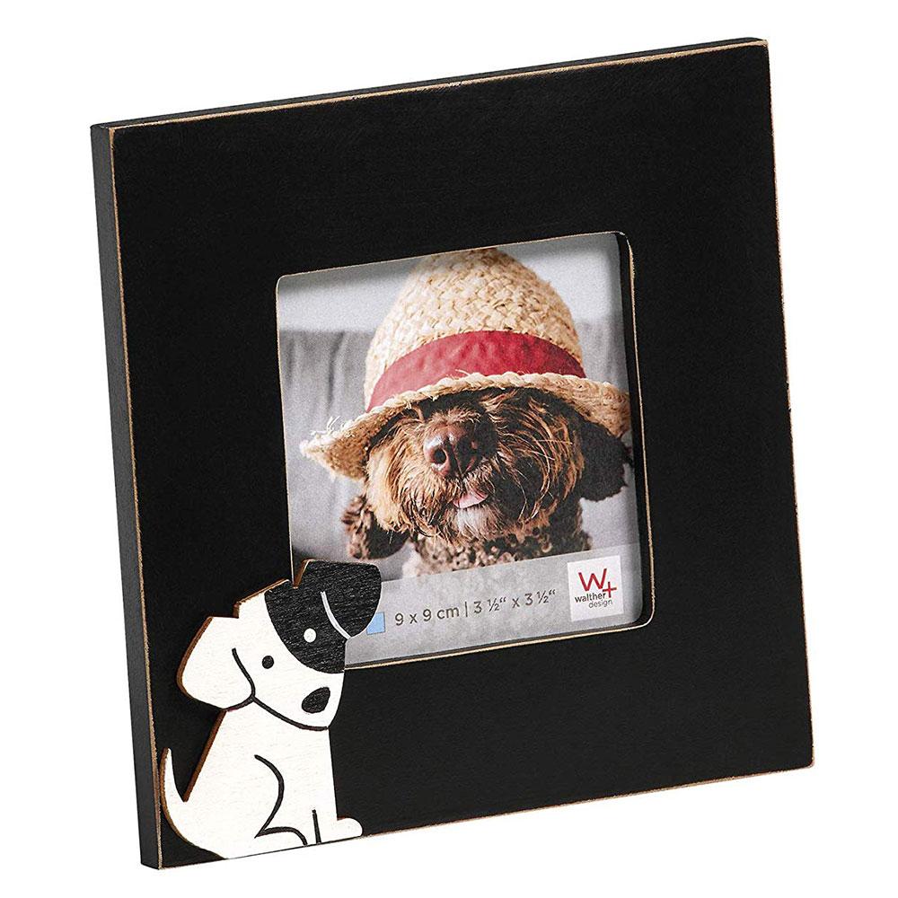 Cats&Dogs Fotorahmen 9x9 cm - Hund 9x9 cm | schwarz | Normalglas
