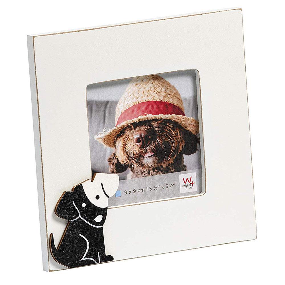 Cats&Dogs Fotorahmen 9x9 cm - Hund 9x9 cm | weiß | Normalglas