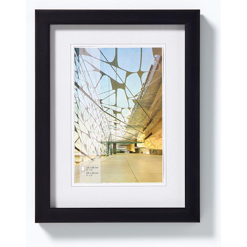 Kunststoffrahmen Construction 10x15 cm | schwarz | Normalglas