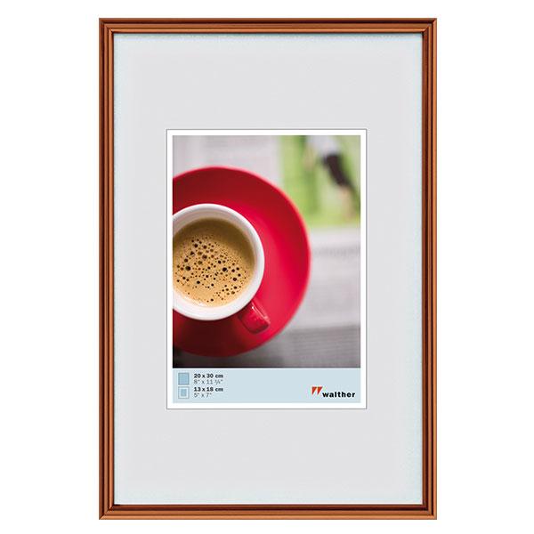 Kunststoffrahmen Galeria 13x18 cm | kupfer | Normalglas