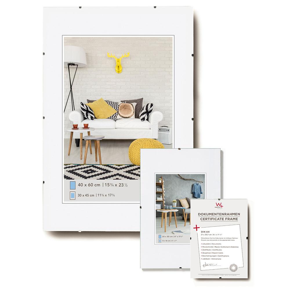 Rahmenlose Bildhalter 10,5x15 cm | Normalglas