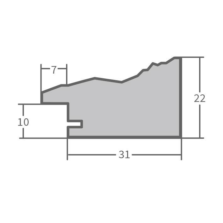fdm holzrahmen mandraka 10x15 cm grau leerrahmen ohne glas r ckwand. Black Bedroom Furniture Sets. Home Design Ideas