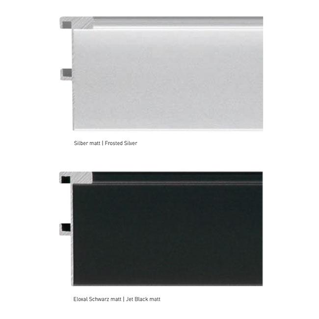 nielsen schattenfugenrahmen profil 230 40x60 cm silber matt leerrahmen ohne glas r ckwand. Black Bedroom Furniture Sets. Home Design Ideas